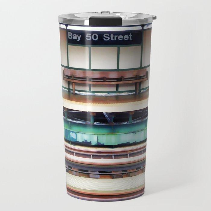 A platform bench Travel Mug
