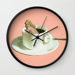 Her Name is Jo :) - pink Wall Clock