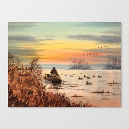 A Great Day For Hunting Ducks Canvas Print