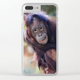 Sumatran Orangutan Clear iPhone Case