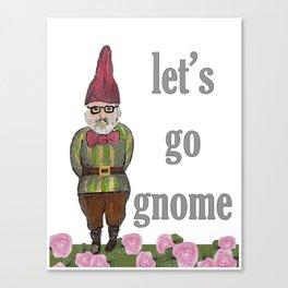 Let's Go Gnome Canvas Print