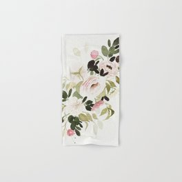 Romantic Loose Rose Bouquet Hand & Bath Towel