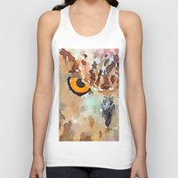 owl Tank Tops featuring Owl by contemporary