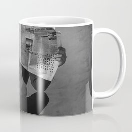 News on Fire (Baclk and White) Coffee Mug