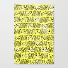 Powder Animal print Series (Yellow) Canvas Print