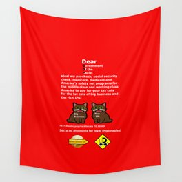 Steal My Paycheck Fat Cats Wall Tapestry