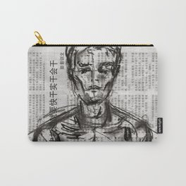 Strategy - Charcoal on Newspaper Figure Drawing Carry-All Pouch