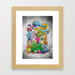 Monstrously Messy Framed Art Print