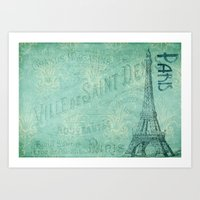 french Art Prints featuring French by EnchantedWhispers