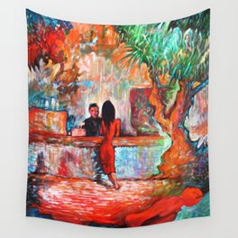 Plein Air Cafe Wall Tapestry