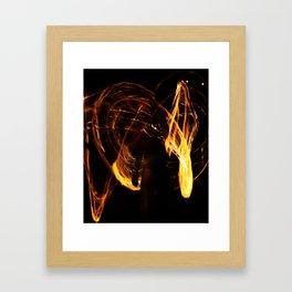 Fire Show Framed Art Print
