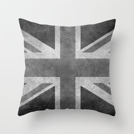 Union Jack Vintage retro style B&W 3:5 Throw Pillow