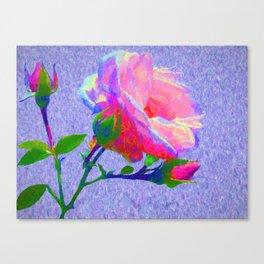 New Dawn Climbing Rose Painterly Canvas Print