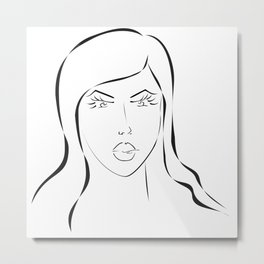 Beautiful girl Metal Print