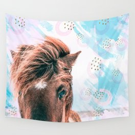 Horse horseshoes Wall Tapestry