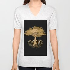 Heart Tree - Orange Unisex V-Neck