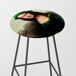 Lucky Mona Lisa - St Patrick's Day Bar Stool