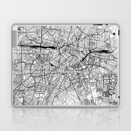 Munich White Map Laptop & iPad Skin