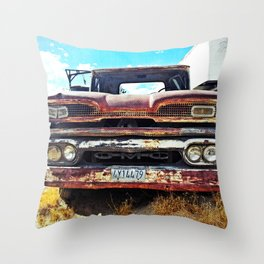 Rust Bucket Love Three Throw Pillow