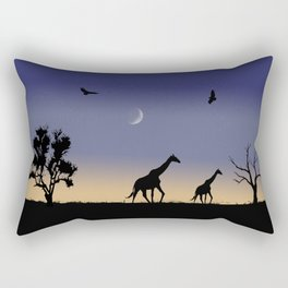 African dawn - giraffes Rectangular Pillow