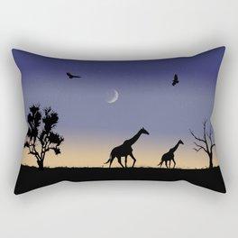 African dawn - giraffes Rectangular Pillow
