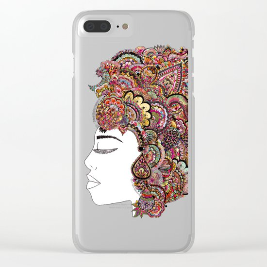 Her Hair - Les Fleur Edition Clear iPhone Case