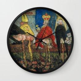 Doctrinal Nourishment (World Powers, Religion, Big Business) portrait painting by James Ensor Wall Clock