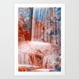 Acrylic Urbex Falls Art Print