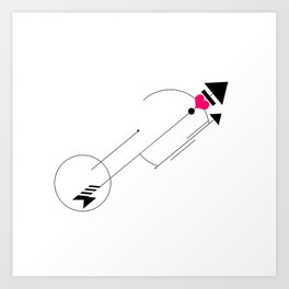 Cupid's Arrow Geometric Art Print