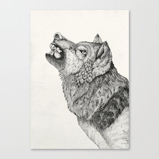 Wolf // Graphite Canvas Print
