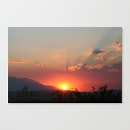 Heavens Glow Canvas Print