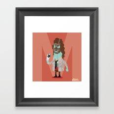 Alphabet Wrestlers - Mankind Framed Art Print