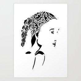 Paper Cut - Woman No. 2 Art Print