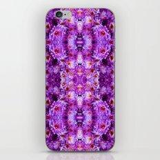 Violet Purple White Flower Pattern iPhone & iPod Skin