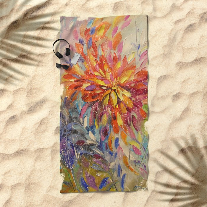 An explosion of emotions Beach Towel