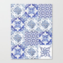 Azulejo VIII - Portuguese hand painted tiles Canvas Print