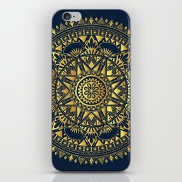 Blue & Gold Boho Pattern iPhone Skin
