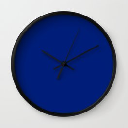 color for cornflower blue (#001E79-resolution blue) Wall Clock