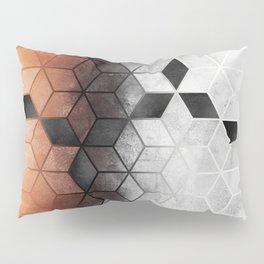 Ombre Concrete Cubes Pillow Sham