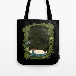 Sleeping with Snorlax Tote Bag