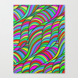 waves of colors  Canvas Print