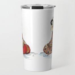 the red kimono Travel Mug