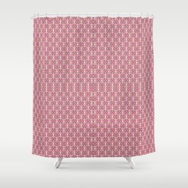 RETRO PINK AND BROWN PATTERN Shower Curtain