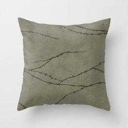 Frankenstein Monster Stitches Throw Pillow
