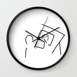 architect technical draftsmen Wall Clock