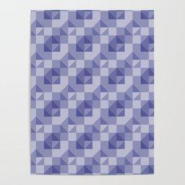 Slate Blue Geometric Poster