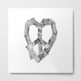 Peace Heart Metal Print