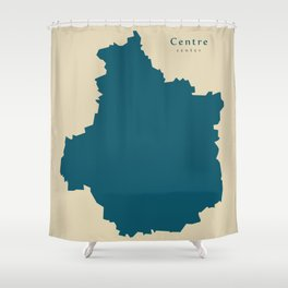 Modern Map - Centre FR France Shower Curtain
