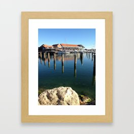 Boat Harbour Framed Art Print