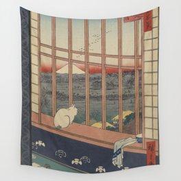 Ukioy-e Asakusa tanbo torinomachi mōde Wall Tapestry